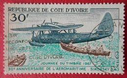 66 République De Côte D'Ivoire Journée Du Timbre 1967 Sikorsky - Airplanes