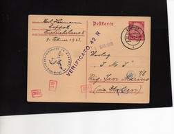 CG6 - Germania - Cartolina Postale - Annullo Di Zoppot 8/2/1943  Per Rep. San Marino - Germany