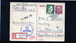 CG6 - Germania - Cartolina Postale - Annullo Di Wien 27/2/1943  Per Rep. San Marino - Germany