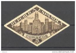ESBE17SH-L2965TCOPO.Spain Espagne.BENEFICENCIA.PALACIO DE COMUNICACIONES  1937.(Ed  SH17**).sin Charnela..MAGNIFICO - Correo Postal