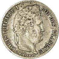 Monnaie, France, Louis-Philippe, 1/4 Franc, 1836, Bordeaux, TTB, Argent - France