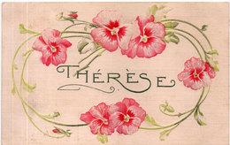 THERESE - CPA Gaufrée - Fantaisie Fleurs   (2681 ASO) - Prénoms