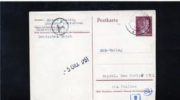 CG6 - Germania - Cartolina Postale - Annullo Di Gmunden 25/5/1943    Per Rep. San Marino - Germany