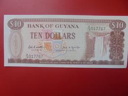 GUYANE 10$ 1966-1992 PEU CIRCULER/NEUF (B.5) - Guyana