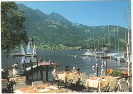 Interlaken-Thunersee: Strand- & Golfhotel 'Neuhaus' - Seeterrasse -  (Schweiz/Suisse) - BE Berne