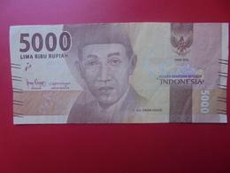 INDONESIE 5000 RUPIAH 2016 CIRCULER (B.5) - Indonésie