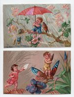- 2 CHROMOS ENFANTS - - Trade Cards