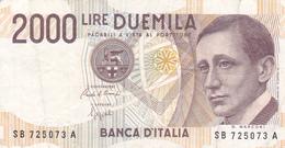 BILLET ITALIE 2000 LIRE G. Marconi Signature Ciampi & Speziali @ PICK 115 - 2000 Lire