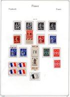 Collection F.M  De Timbres Neufs Avec Et Sans Charnières + 14 Lettres Et CP + 3 Vignettes De Carnet + Carnet Vide - Collezioni