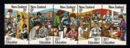 New Zealand 1977 Education Strip Of 5 MNH - Nouvelle-Zélande