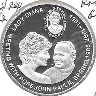 *dem. Republic Congo 5 Francs 2000 Km 64  Lady Diana  Proof - Congo (República Democrática 1998)