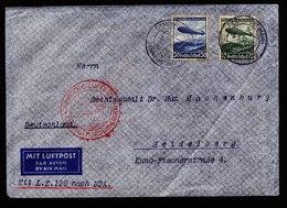 A6514) DR Zeppelinbrief 1.Nordamerikafahrt 1936 V. Frankfurt 06.05.36 - Storia Postale