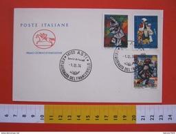 A.09 ITALIA ANNULLO - 1974 ASTI GIORNATA DEL FRANCOBOLLO MASCHERE CARNEVALE FDC - Giornata Del Francobollo