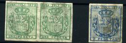 Cuba (Telégrafos) Nº 43/44s. Año 1878. - Cuba (1874-1898)