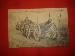 N°0810. WW1. LA GRANDE GUERRE 1914. BATAILLE DE L'YSER. NOUVEAU MORTIER ANGLAIS DE 6 INCHES (120) DANS LES HOUBLONNIERES - Guerre 1914-18