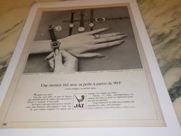 ANCIENNE PUBLICITE MONTRE  JAZ 1971 - Bijoux & Horlogerie