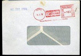 SP52  ANNULLO ROSSO CAFFE' BUSCAGLIONE SU BUSTA - Machine Stamps (ATM)