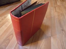 Yvert Et Tellier - Reliure Futura Rouge Avec 35 Feuilles 1 Et 2 Cases - TB état - Albums & Reliures
