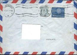 1971 Norway / Norge Letter Via Yugoslavia,1960 EUROPA Stamp - Norway