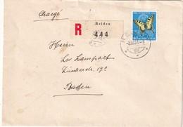SUISSE 1951 LETTRE RECOMMANDEE DE REIDEN AVEC CACHET ARRIVEE BADEN - Suisse