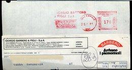 SP53  ANNULLO ROSSO BARBERO VINI , CANALE (CN) - Machine Stamps (ATM)