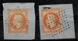 A10b- N°23 Oblit Ancre Bleue Et Noire Sans Défaut - 1863-1870 Napoleon III With Laurels