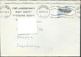 1970 Norway / Norge Letter Via Yugoslavia - 1970 Nature Protection,birds - Brieven En Documenten