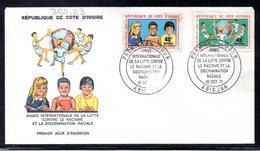 Côte D'ivoire 0322/23 Fdc Enfants , Lutte Contre Le Racisme - Zonder Classificatie
