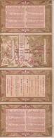 RARE CHROMO EN 4 VOLETS PERFUMERIE GELLE FRERES CALENDRIER DE 1897 PORTRAIT DE FEMMES - Trade Cards