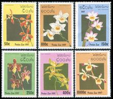 202- Laos 1997  YT 1269/1274 ; Mi# 1577/1582 **  MNH  Orchids - Laos