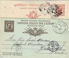 Deux Cartes Postales De Gènes Et Milan Avec Entiers Postaux Pour Paris Et Granville ( Agent Consulaire ) - Machine Stamps (ATM)