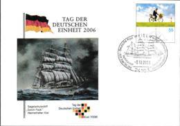 Germany Ganzsache 2005 Landpost W/print Tag Der Deutschen Einheit 2006 - SSS Gorch Fock - Used Kiel 2006 (G106-57) - Sobres Privados - Usados