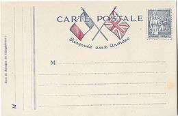 CARTE FM FRANCHISE MILITAIRE TYPE PAIX - Marcofilie (Brieven)
