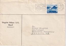 SUISSE 1952 LETTRE DE BALE - Suisse