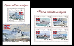 Djibouti. 2019 Norwegian Military Ships.  (0620) OFFICIAL ISSUE - Militaria