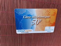 Belgacom France Prepaidcard Used 2 Scans Rare - Cartes GSM, Recharges & Prépayées