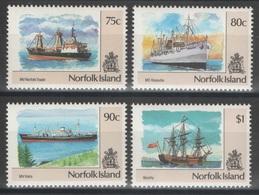 Norfolk - YT 499-502 ** MNH - 1991 - Bateaux - Ile Norfolk