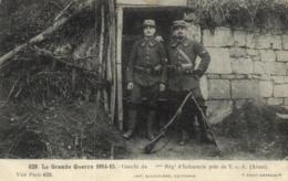 02 - Aisne - Guerre 14-15 - Env. De Vic Sur Aisne - Gourbi Du ..Régt D'Infanterie - D 2805 - Soissons