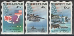 Norfolk - YT 513-515 ** MNH - 1992 - Battle Of Midway - WW2 - Ile Norfolk
