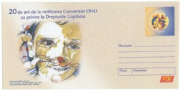IP 2010 - 26 Child Rights, Butterfly In Fixed Stamp, Romania - Stationery - Unused - 2010 - Butterflies