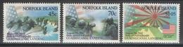 Norfolk - YT 519-521 ** MNH - 1992 - Guadalcanal Landing - WW2 - Ile Norfolk