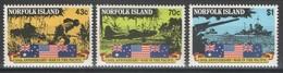 Norfolk - YT 507-509 ** MNH - 1991 - War In The Pacific - WW2 - Ile Norfolk