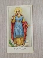 Santino S. Lucia V. M. - Devotion Images
