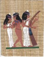 Art Egyptien - Papyrus - Scène De La Vie Quotidienne - Estampillé - African Art