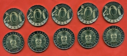 Kazakhstan 2020. Lot Of 5 Coins 200 Tenges. UNC. NEW!!!! - Kazakhstan
