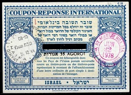 ISRAEL Lo17A Bale 023 55 / 52 AGOROT Intern. Reply Coupon Reponse Antwortschein O HAIFA 21.12.66 Redeemed NEW YORK - Briefe U. Dokumente