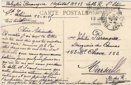 CPA : Rochetallée , Cachet Franchise Postale Hôpital Temporaire N° 13 - Rochetaillee