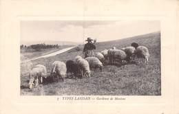 20-1653 : TYPE LANDAIS. GARDEUSE DE MOUTONS - France