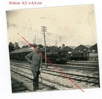 59 - Landrecies - La Gare - Feldbahn Lokomotive  - Soldats Allemande -  Photo Allemande 1914-1918 WWI - Guerre 1914-18
