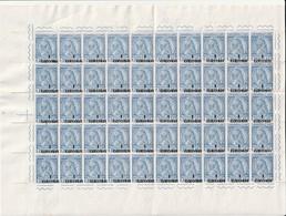 ALBANIE - N°41 ** En Feuille De 50 (1914) Gjergji Kastrioti - Surchargé En Monnaie Turque. - Albanie